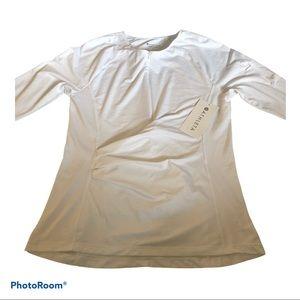 Athleta Pacifica Wrap Top NWT Bright White Large